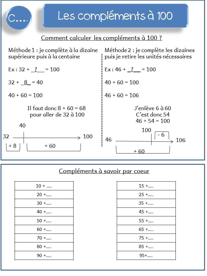 exercice math ce2